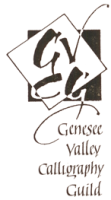 Genesee Valley Calligraphy Guild Logo